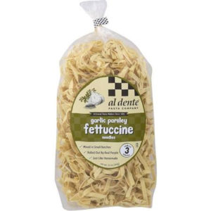 al dente pasta garlic parsley fettuccine